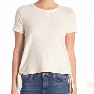 Made well cream textured side tied short sleeve